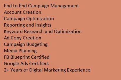 Portfolio for Paid Digital Marketing
