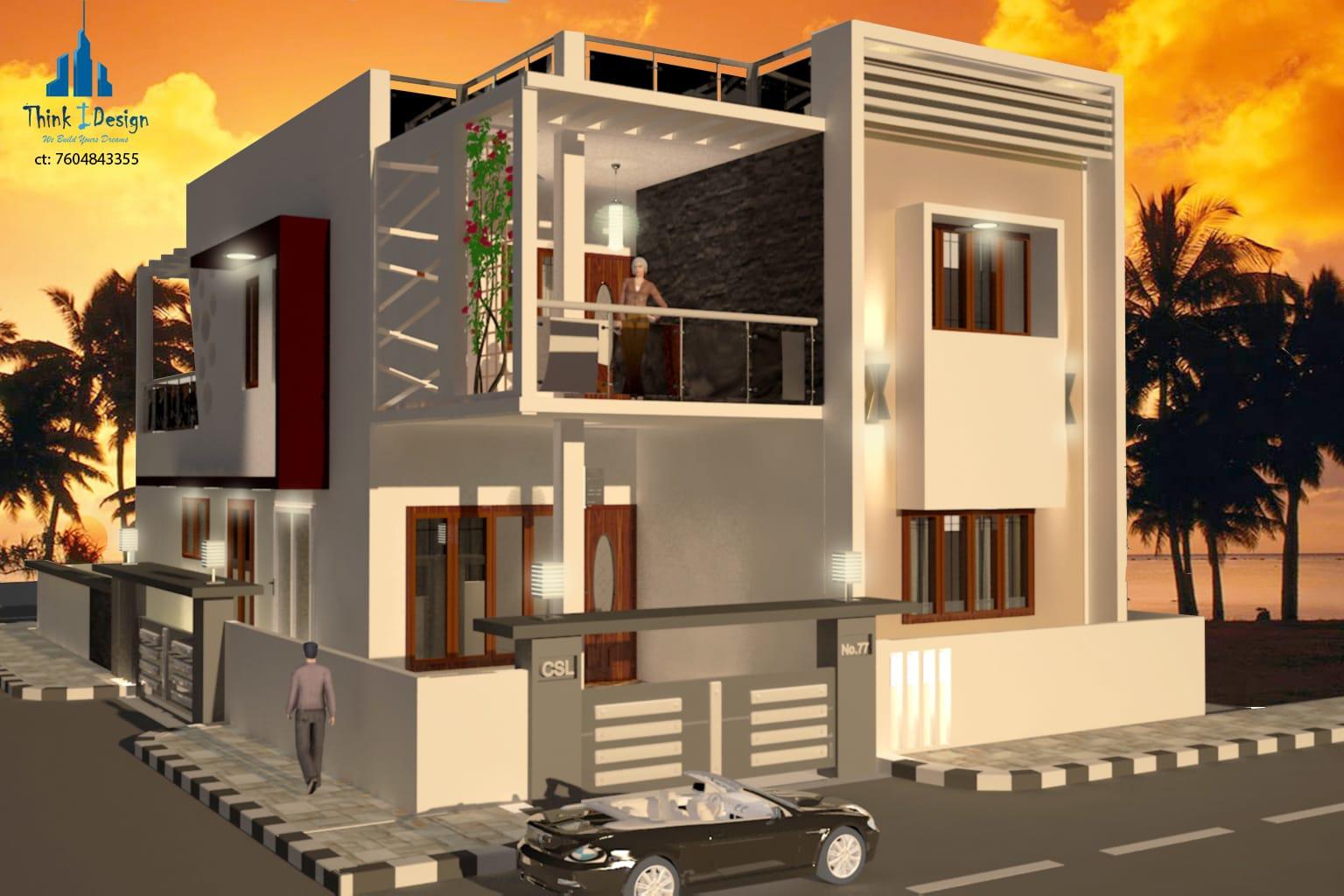 Portfolio for 2D Plans, 3D Interior & Exterior Designs