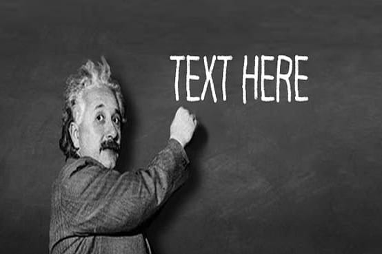 Portfolio for Message with blackboard of Sir Einstein