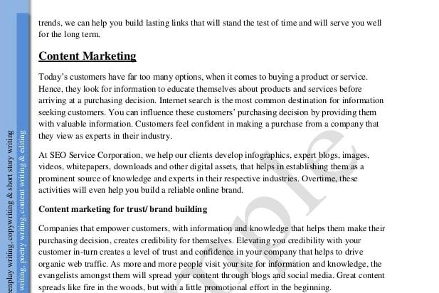 Portfolio for dot net development, Content writing.