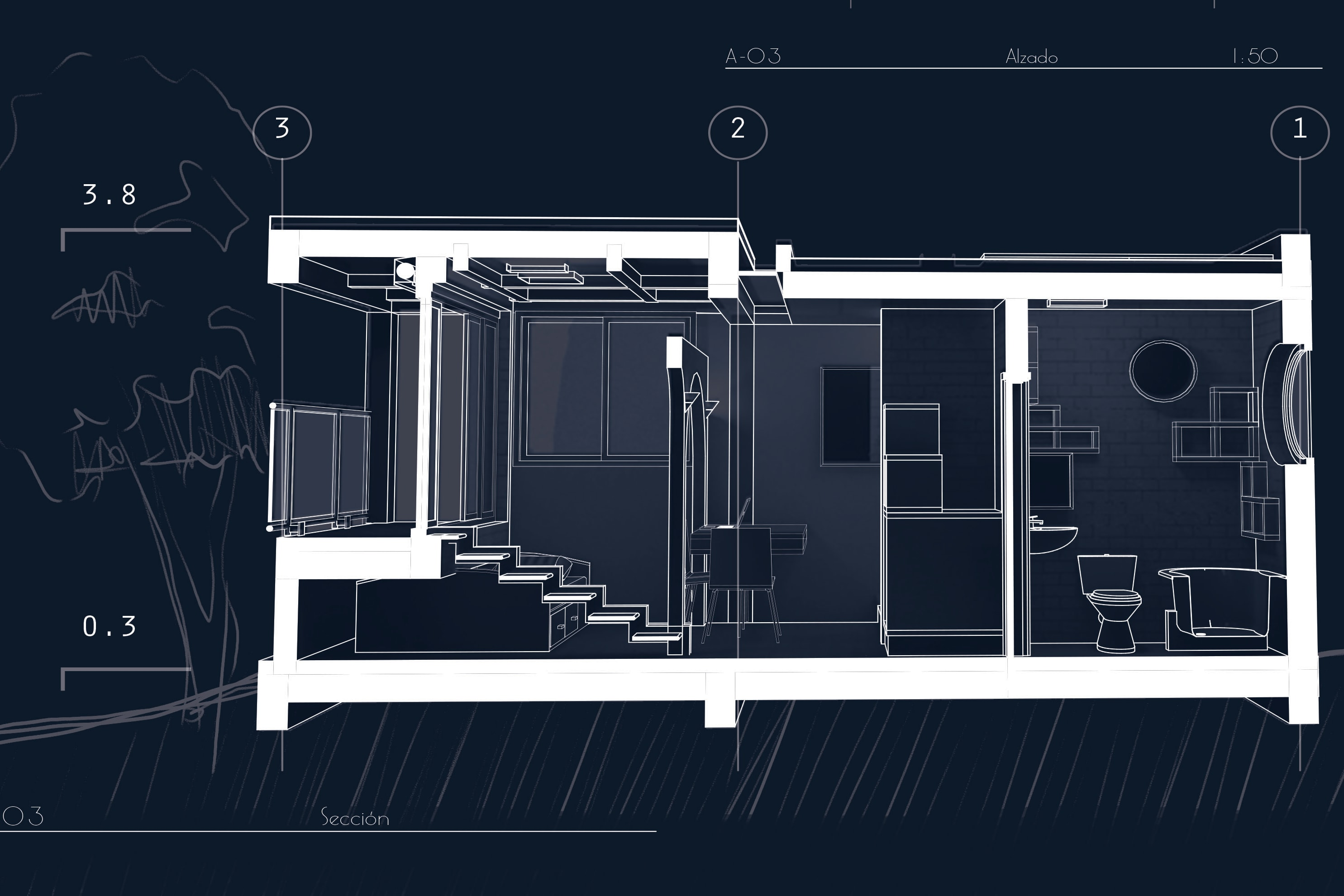 Portfolio for Architecture Plan Drafting and Modeling