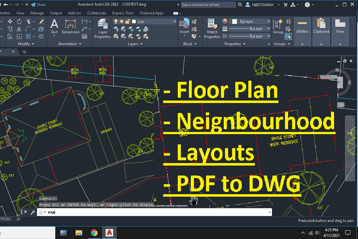 Portfolio for draw and digitalize autocad 2d drawings
