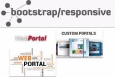 Responsive/Bootstrap Web Portals