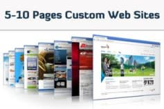 5 - 10 Pages Website with Admin Panel @ $400