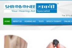 Hearing Website Design & Development for SHROBONEE