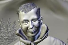 man's bas relief 3d model