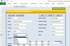 Sales Tracking Tool - Excel (front) + Access (back)