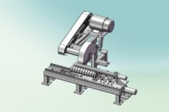 Centerless grinding machine for round bar