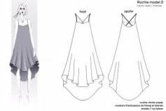 Fashion technical drawings