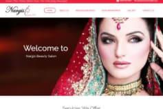 Nargis Salon & Spa (web design with wordpress)