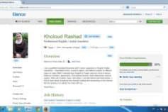 My profile on Elance website