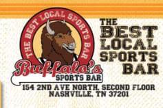 Buffalo's Sports Bar Print Design