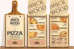 Menu Design - Brick \u0026 Wood, 2013