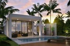 Exterior 3d rendering of villa