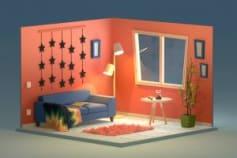 Isometric Room 3d Illustration