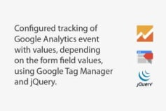 GA event tracking with GTM and jQuery