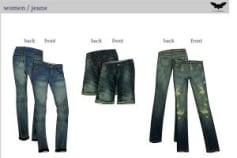 2d technical design women jeans
