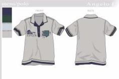 2d technical design mens polo shirt