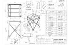 Tower Support - Fabrication Drawing