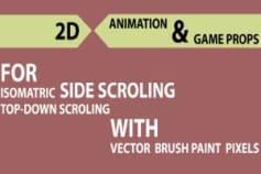 2D Brush Game Art