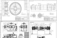 2D part drawing and assembling drawing