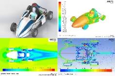 3d Design and Aerodynamic analysis of F4 student Race c
