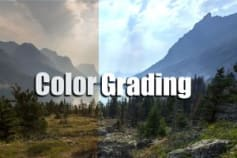 Color grading of picture and videos