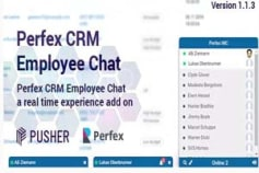 Perfex CRM Employee Chat