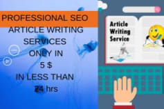 Seo article writing and blog writing