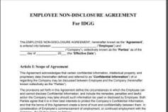 NDA(Non-Disclouser Agreement)