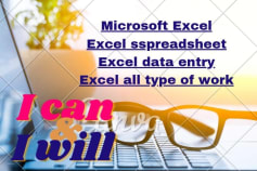 Microsoft Office Worker and Data Entry