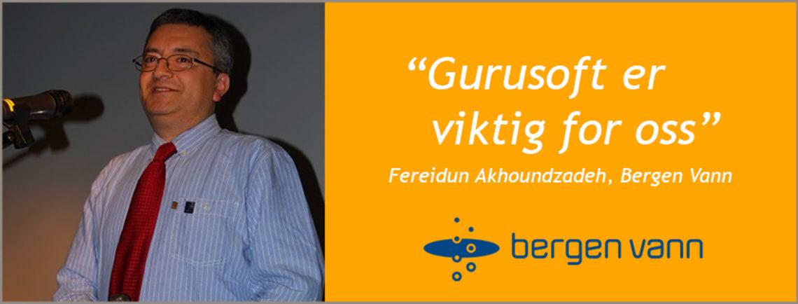 Bergen Vanns erfaring med bruk av Gurusoft Report.