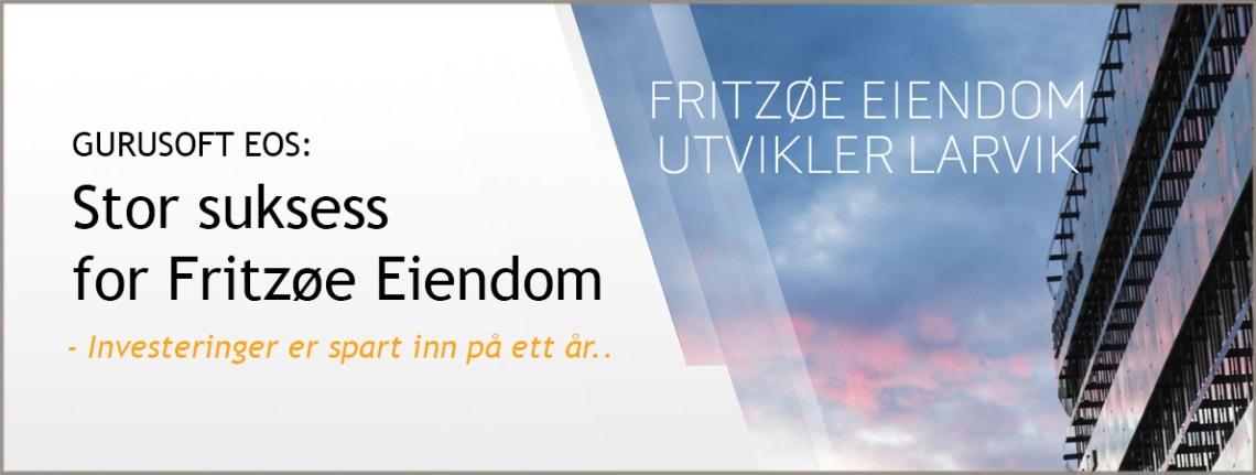Fritzøe Eiendom sparer millioner i året på bruk av EOS fra Gurusoft.