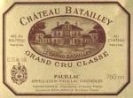 Chateau Batailley 5eme Cru 2018