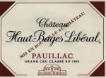 Chateau Haut Bages Liberal 5eme Cru