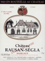 Chateau Rauzan Segla 2eme Cru 2016