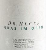 Chardonnay Winklerberg hinter Winklen Gras im Ofen Großes Gewächs trocken