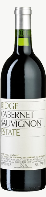 Cabernet Sauvignon Estate Santa Cruz Mountains 2017
