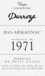 Domaine de Petit Lassis à Lagrange Bas Armagnac 1971