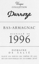Domaine de Salie au Frêche Bas Armagnac 1996