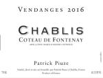 Chablis Coteau de Fontenay 2018