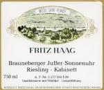 Brauneberger Juffer Sonnenuhr Riesling Kabinett (Versteigerungswein) fruchtsüß 2018
