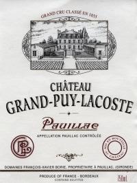 Chateau Grand Puy Lacoste 5eme Cru 2012