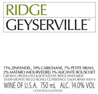 Geyserville 2012