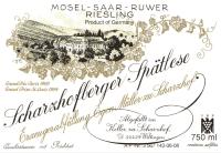 Scharzhofberger Riesling Spätlese (fruchtsüß) 2014