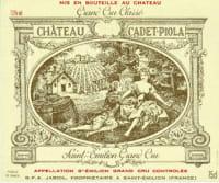 Chateau Cadet Piola Grand Cru