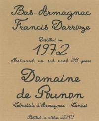 Domaine de Pounon Bas Armagnac 1972