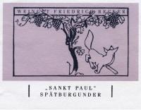 Pinot Noir Sankt Paul Großes Gewächs 2010