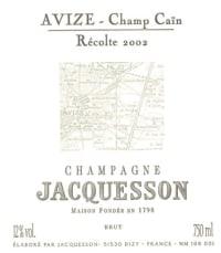 Champagne Brut Avize Champ Cain Millesime Grand Cru Flaschengärung 2004