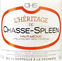 Heritage de Chasse Spleen (2. Wein) 2010